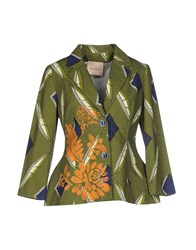 Erika Cavallini Semi Couture Erika Cavallini Semicouture Suits And Jackets Blazers Women Green