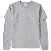Reebok X Beams Long Sleeve Layered Tee Grey