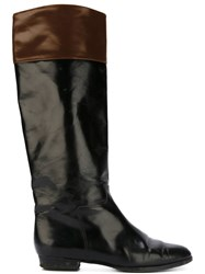 Prada Vintage Knee Length Boots Brown