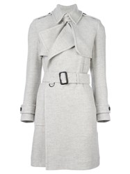 Burberry Belted Trench Coat Grey