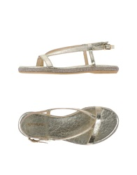 Rosamunda Thong Sandals Platinum