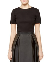 Ted Baker Gayl Bow Detail Crop Top Black