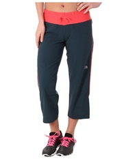 The North Face Torpedo Stretch Capri Kodiak Blue Snowcone Red Women's Capri