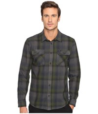 Rvca Highland Ii Long Sleeve Forest Men's Clothing Green