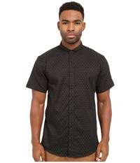 Publish Valerio Jacquard Speckled Short Sleeve Woven Black Men's Clothing