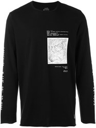 Stampd Map Print Longsleeved T Shirt Black