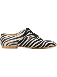 Junya Watanabe Comme Des Gara Ons Zebra Print Oxford Shoes Black