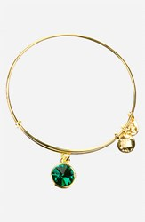 Women's Alex And Ani Birthstone Expandable Wire Bangle May Emerald