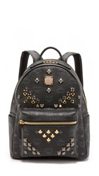 Mcm M Stud Small Stark Backpack Black