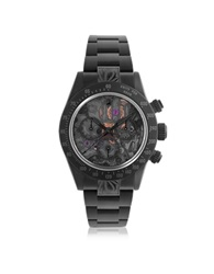 Mad Customized Watches Customized Rolex Daytona Skeleton Ii Men's Watch Black