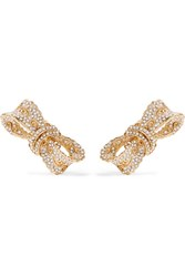 Dolce And Gabbana Gold Plated Crystal Clip Earrings