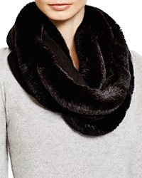 Magaschoni Fur Infinity Scarf Black