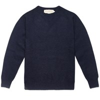 William Fox And Sons Navy Wool Sweater Blue