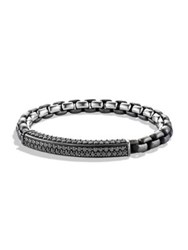 David Yurman Pave Black Diamond Bracelet Dark Silver