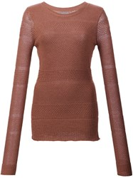 Maiyet Mixed Knit Sweater Brown