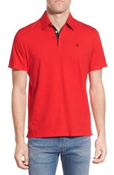 Men's Victorinox Swiss Army 'Vent' Slim Fit Polo Torch Red