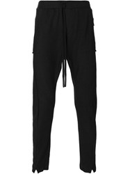 Lost And Found Drop Crotch Track Pants Black