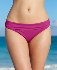 Kenneth Cole Reaction Solid Hipster Bikini Bottom Women's Swimsuit Iris