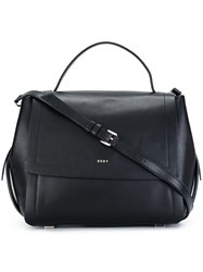 Dkny Front Flap Tote Black