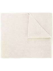 Polo Ralph Lauren Ribbed Knit Scarf Nude Neutrals