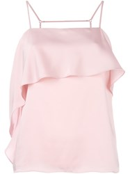 Elizabeth And James Ruffle Detail Top Pink Purple