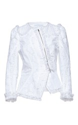 Andrew Gn Fitted Eyelet Jacket White
