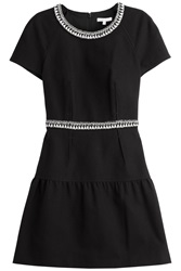 Paule Ka Cotton Pique Dress Black