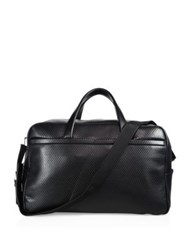 Z Zegna Goat Grained Calfskin Leather Briefcase Black