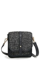 Big Buddha Crossbody Bag Black Grey Boucle