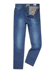 Blend Of America Medium Wash Mid Rise Jeans Blue