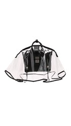 The Handbag Raincoat Mini City Slicker Handbag Raincoat Clear Black