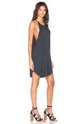 Lna Bib Tank Mini Dress Charcoal