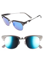 Westward Leaning Women's 'Vanguard' 49Mm Sunglasses Slate Shiny Neon Blue Slate Shiny Neon Blue