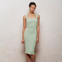 Wears London Mae Strappy Bodycon Midi Dress In Pastel Mint Green