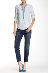 Level 99 Embroidered Sienna Tomboy Jean Blue