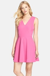 Women's Felicity And Coco Back Cutout Fit And Flare Dress Hot Pink