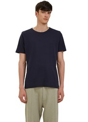 Les Basics Short Sleeved Crew Neck T Shirt Navy