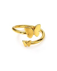 Alex And Ani Butterfly Wrap Ring Gold