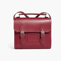 Madewell The Cambridge Satchel Company Barrel Backpack Rhubarb Red
