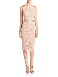 Abs By Allen Schwartz Lace Satin Contrast Sheath