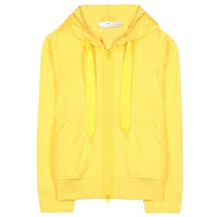 Adidas By Stella Mccartney Run Zip Cotton Blend Hoodie Glow Yellow Smc