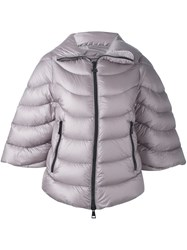 Moncler Wide Sleeve Puffer Jacket Pink And Purple