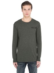 G Star Long Sleeve Cotton Blend T Shirt