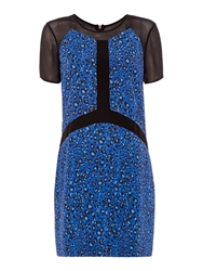 Pied A Terre Sheer Printed Dress Multi Coloured