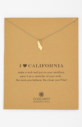 Dogeared 'Reminder I Heart California' Boxed Pendant Necklace California Gold Dipped