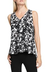 Vince Camuto Women's Lace Print Sleeveless Blouse New Ivory