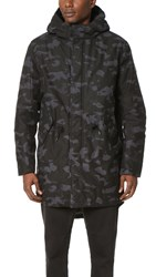 Cheap Monday Cage Print Parka Dark Grey