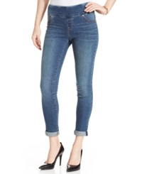 Style And Co. Petite Cuffed Skinny Jeggings Quincy Wash