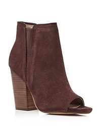 Splendid Kendyll Open Toe High Heel Booties Wine