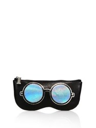 Rebecca Minkoff Mirrored Sunnies Leather Sunglass Pouch Black Multi